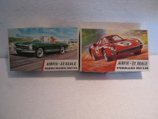 Airfix Model Kit - Mercedes 280 SL Airfix 1/32 Scale and Ferrari 250 LM Airfix 1/32 Scale