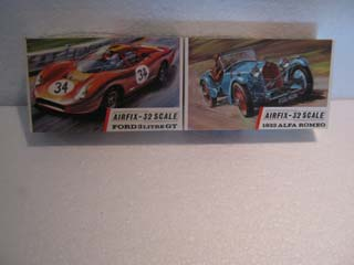 Airfix Model Kit - Ford 3 Litre GT Airfix 1/32 Scale and 1933 Alfa Romeo Airfix 1/32 Scale