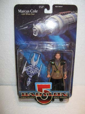Marcus Cole with White Star - Babylon 5 Earth Alliance Space Station