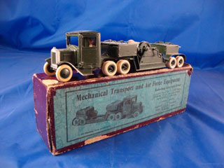 Britains Set No 1757 Mechanical Transport and Air Force Equipment with Barrage Balloon