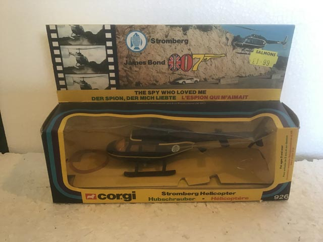 Corgi Toys 926 Stromberg Helicopter from James Bond The Spy Who Loved Me