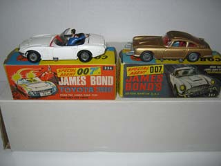 Corgi Toys 336 James Bond Toyota 2000 GT and Corgi Toys 261 James Bond Aston Martin
