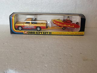 Corgi Gift Set No 28 Mazda B1600 Pick-up, Trailer and Dinghy