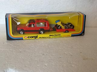 Corgi Gift Set No 25 Matra Rancho with Motorcycles