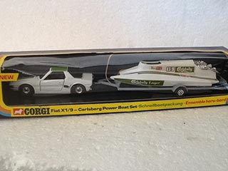 Corgi Toys Gift Set No 37 Fiat X1/9-Carlsberg Power Boat Set