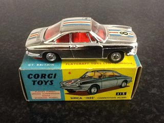 Corgi Toys 315 Simca 1000 Competition Model