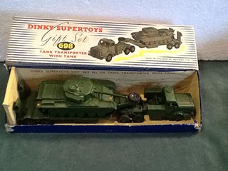 Dinky Supertoys Gift Set 698 Tank Transporter With Tank