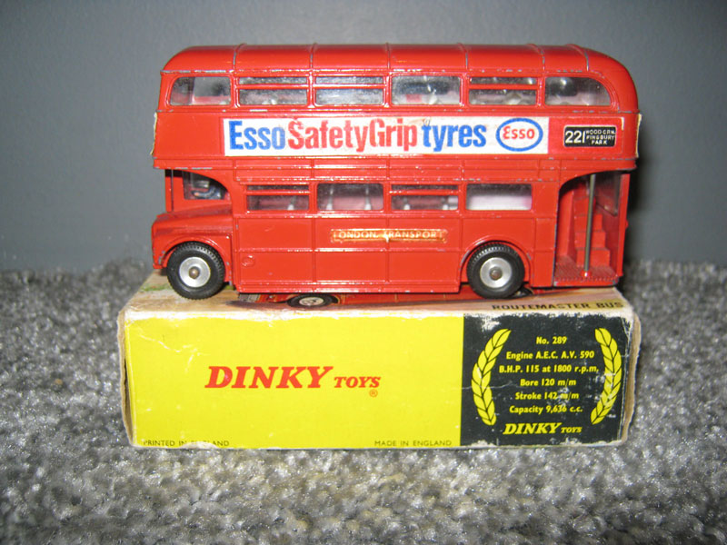 Dinky Toys 289 Routemaster Bus Esso Safety Grip Tyres White Label