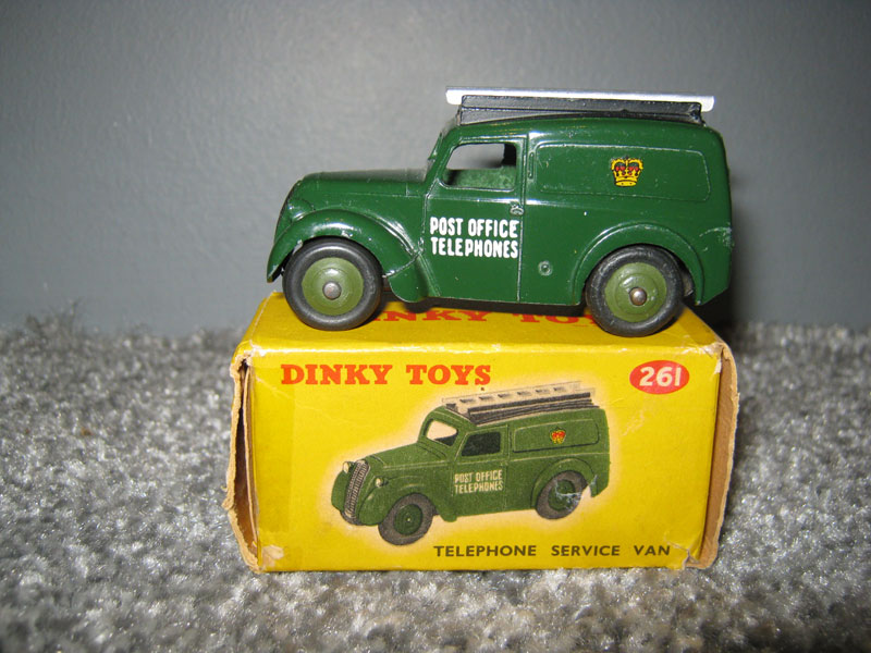 Dinky Toys 261 Telephone Service Van Olive Green Post Office Telephones