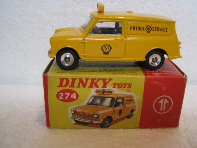 Dinky Toys 274 Mini Minor Van AA Yellow Body and Yellow Roof