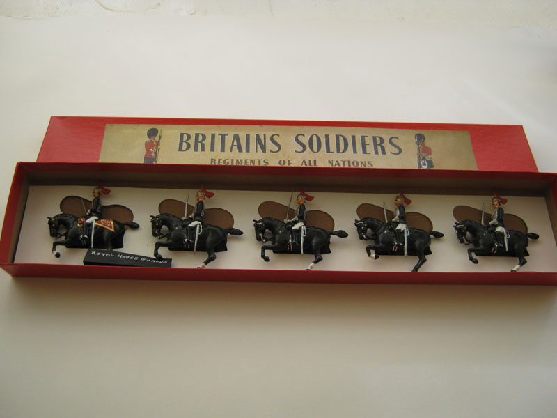 Britains Royal Horse Guards 1935 Repainted including one converted officer