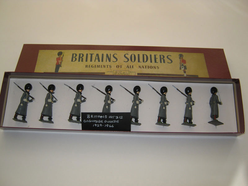 Britains Grenadier Guards Set 312 in Winter Overcoated (Repainted) 1929-1966