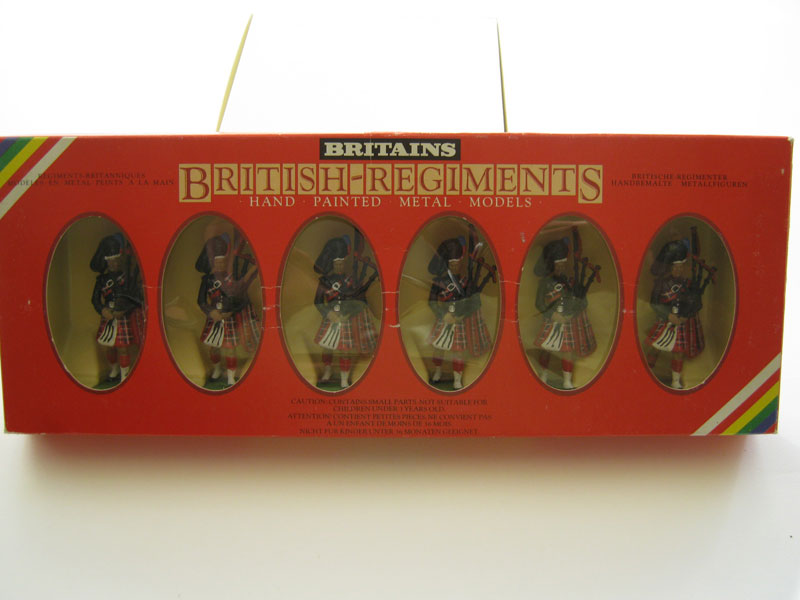 Britains Scots Guards x 6 Pipers Set 7241 1985-87