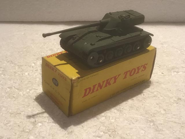 French Dinky Toys 817 CHAR A.M.X. 13 Tonnes Tank Aquitania Collectables