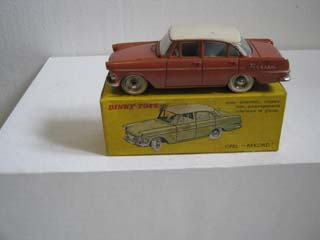 French Dinky 554 Opel Rekord Coral Pink Body, Ivory Roof