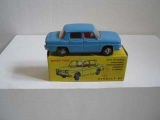 French Dinky 517 Renault R8 Blue Body, Red Interior