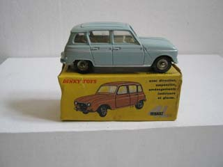 French Dinky 518 Renault R4L Pale Blue Body, White Interior