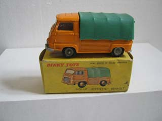 French Dinky 563 Renault Estafette Pick-up Orange Body, Green Canopy