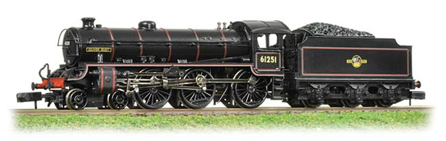 Graham Farish 372-077 Class B1 61251 4-6-0 Oliver Bury BR black with late crest