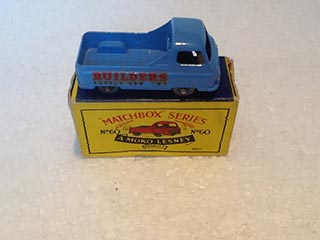 Matchbox Series 1-75 No 60 Morris J2 Pick Up Van Builders Supply Company