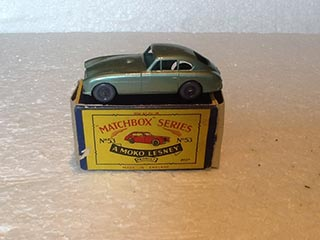 Matchbox Series 1-75 No 53 Aston Martin DB2-MK1 Metallic Green Body