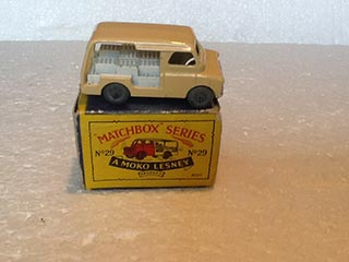Matchbox Series 1-75 No 29 Bedford Milk Delivery Van Light Brown Body