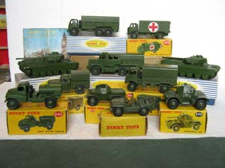Dinky Toys Military 622, 623, 626, 641, 643, 651, 670, 673, 674, 689