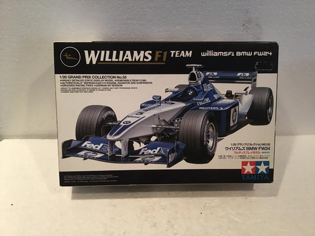 Tamiya Model Kits Williams F1 Team BMW FW24 Grand Prix Collection No.55 1/20 Scale - Model Kits