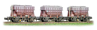 Graham Farish by Bachmann 377-840 Triple Pack 22 ton Presflo Cement Wagons BR Bauxite (Weathered)