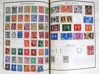 Postage Stamp Album Pages