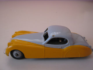 Dinky Toys 157 Jaguar XK120 Yellow Body Light Grey Upper Body