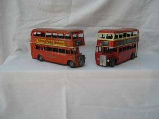 Tri-ang Minic Pair of London Double Decker Buses