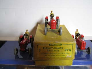 Dinky Toys Trade Box 27A Massey-Harris Tractor
