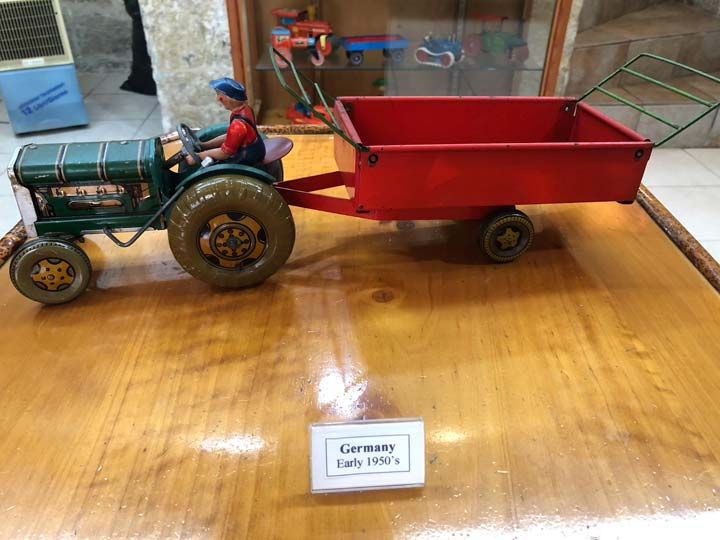 Grant's Trip to Malta Toy Museum - Floor 1 Germany Early 1950s Farm Tractor