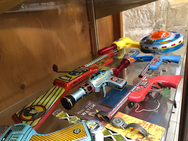 Grant's Trip to Malta Toy Museum - Floor 1 Toy Guns