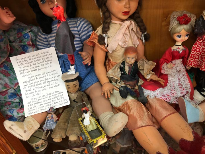 Grant's Trip to Malta Toy Museum - Floor 3 Sailor Toy with Handwritten Letter