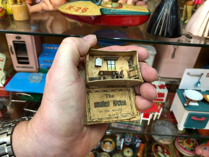 Grant's Trip to Malta Toy Museum - Floor 3 The Smallest Kitchen in the World Made in Germany