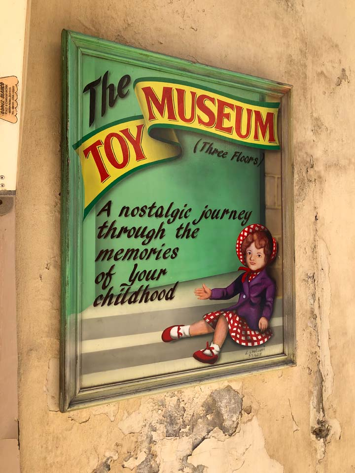 Grant's Trip to Malta Toy Museum - Sign Three Floors